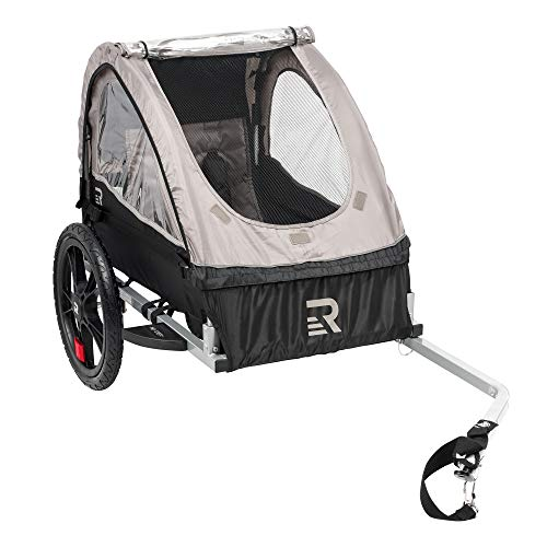 Buy Cheap Retrospec Rover Kids Bicycle Trailer Single and Double Passenger Children's Foldable Tow Behind Bike Trailer with 16″ Wheels, CPSC Approved Safety reflectors, and Rear Storage Compartment