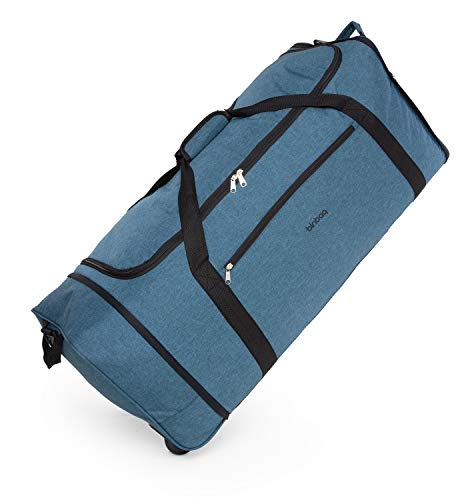 blnbag M4 - Bolsa de Viaje Blanda con Ruedas, Ligera, Bolsa Plegable con Ruedas, Bolsa con Ruedas, 90 litros