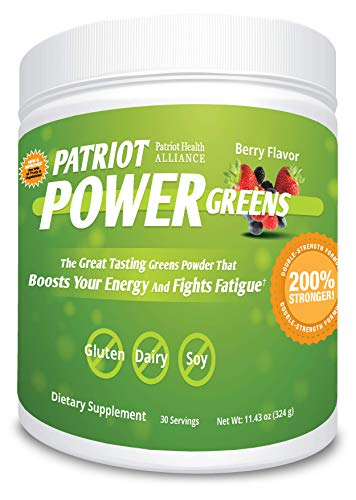 Patriot Power Greens: Green Drink - Organic Superfood Dietary Supplement - 40+ Fruits & Vegetables - 60 Day Supply - 11.43 Ounce