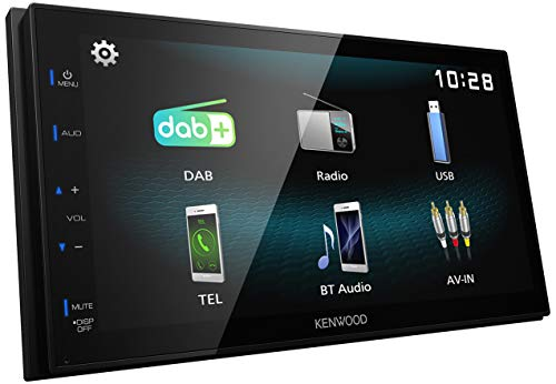 Kenwood DMX125DAB 17,3 cm WVGA Digital Media Receiver mit DAB+, Bluetooth und Android USB-Mirroring