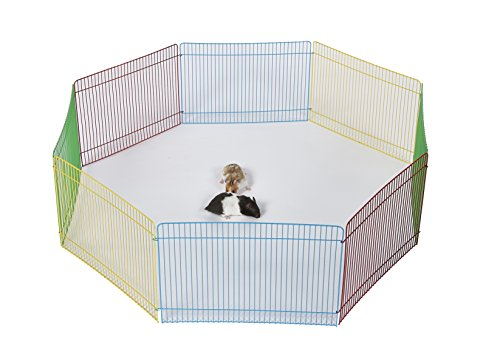 Pet Ting - Parque de Juegos para hámster de Conejo, 34 x 23 cm, 8 Piezas