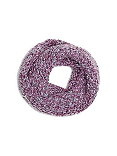 Guess - Sciarpa per bambini con anello, colore: prugna e grigio, taglia M