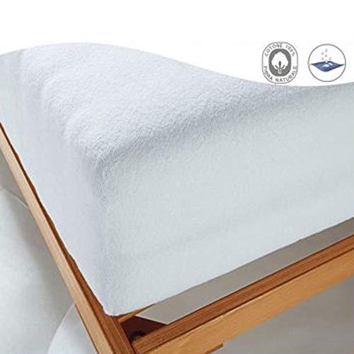 Coprimaterasso Impermeabile misura 1 PIAZZA SINGOLO con angoli ed elastici CM 90X200 altezza materasso cm 25
