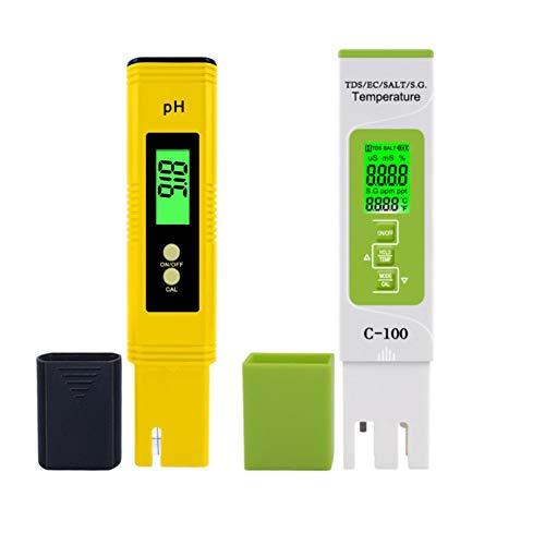 Kuinayouyi 5 im 1 TDS/EC/Salzgehalt/S.G. / Temperaturmesser Tragbarer Stift Typ PH Meter Aquarium Schwimmbad WasserqualittTstester