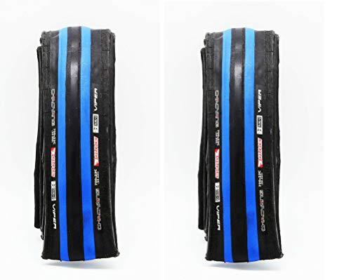 ONOGAL 2X Cubierta Negro y Azul Antipinchazos Neumatico 700 x 23C de Bicicleta 2882azng