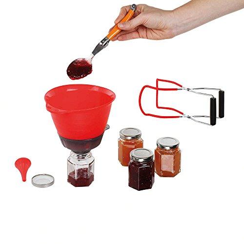 Kitchen Artist men338Kit 7pezzi per marmellata casa, Rosso/Trasparente