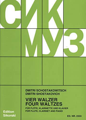 4 Walzer. Flöte, Klarinette, Klavier