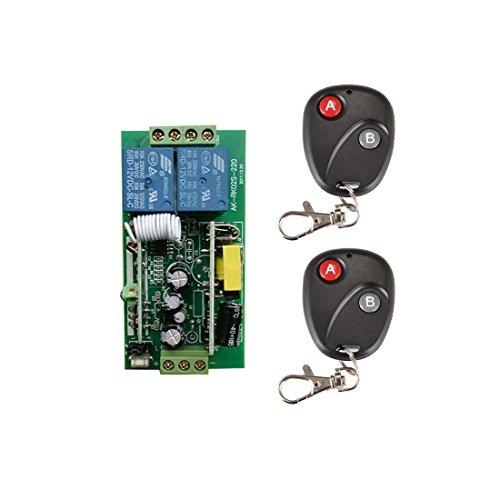 110 V 220 V CA 2 canales 10 A 1000 W, interruptor remoto por radiocontrol, transmisor y receptor, interruptor eléctrico, mando a distancia inalámbrico