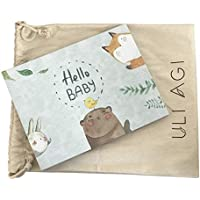 Uli Agi Baby Book First Year & Baby Journal with Dust Bag