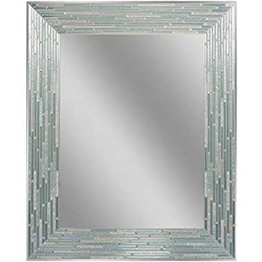 Headwest Reeded Sea Glass Wall Mirror, 24  x 30