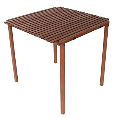 BYER OF MAINE Pangean Nomad Table, Folding Wood Table, Wood Camping Table, Easy to Fold and Carry, Perfect for Camping, Porch Table, Matches Pangean Furniture Line (Single)