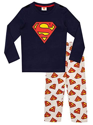 DC Comics Jungen Schlafanzug mit Umhang Superman Mehrfarbig 128