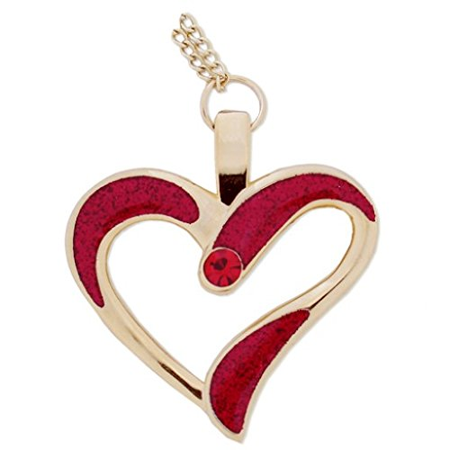 Geo de envío Eternal Love Necklace Collar de corazón, Red/Oro, One Size, 10900