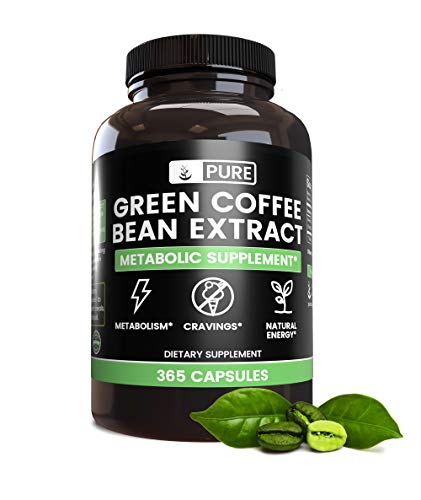 Green Coffee Bean Extract (365 Capsules), Gluten Free, Non-GMO, Metabolism*