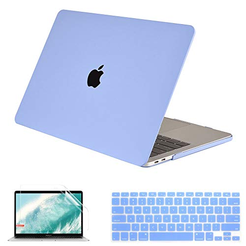 QYiD Macbook Pro 15 Retina Case A1398, Plastic Hard Shell Case Cover with Keyboard Cover & Screen Protector for Macbook Pro 15.4' with Retina Display Modle A1398 (2012-2015 Release), Blue