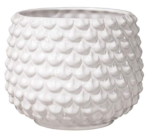 Bloomingville Vaso da fiori, bianco, ceramica