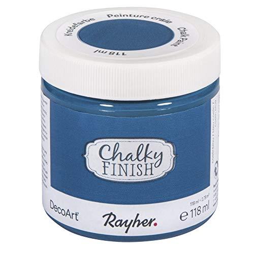 Rayher Chalky Finish Vernice, Blu coelin, 118 ml