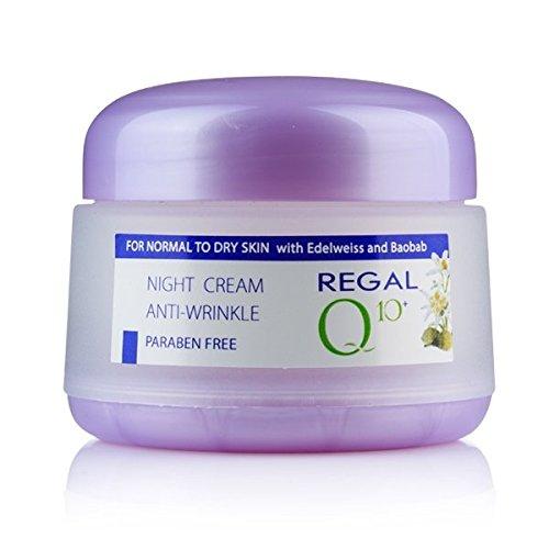 Regal Q10+ Crème Anti-Rides Nuit avec L'huile de Baobab et Edelweiss Peaux Normales à Sèches