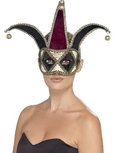 Fancy Me Femmes Hommes Gothique Arlequin Vénitien Médiéval Court Jester Halloween Bal Masqué Masque Déguisement