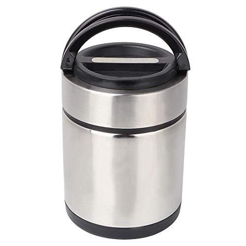 Mzxun Almuerzo Aislamiento Térmico Caja de acero inoxidable de vacío Bolso Térmico Caja Bento viaje que va de excursión días de campo Alimentos Jar Capacidad 1,7 l, 2 pisos Enviar vajilla y más fresca