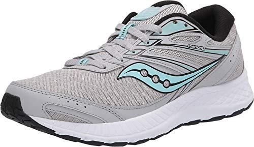 Saucony Women s Cohesion 13 Running Shoe  Grey/Black  8.5
