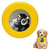犬用 投げるおもちゃ フライングディスク ペットおもちゃ ラウンドフリスビー 噛むおもちゃ 犬用スポーツディス 音楽を聴く ゴリラ 知能訓練用 ストレス解消 運動不足解消 耐久性 丈夫 小型犬 中型犬 大型犬に適応