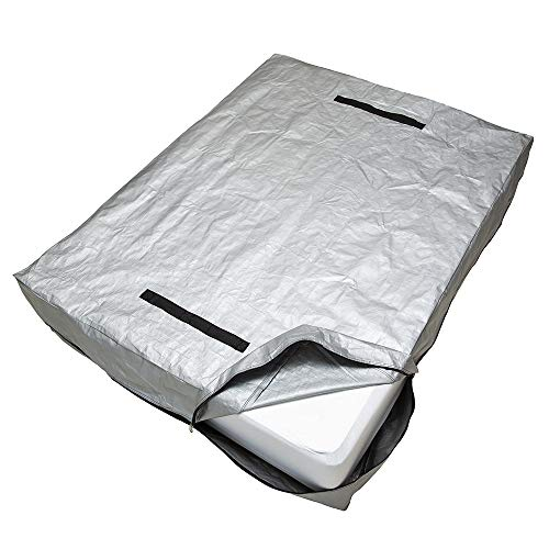 CALOONA Mattress Bags for Moving and Storage-Patent Pending Reusable Mattress Cover for Moving Cal King Size with Reinforced Handles and Heavy Duty Zipper-Extra Thick Mattress Protector Storage Bag