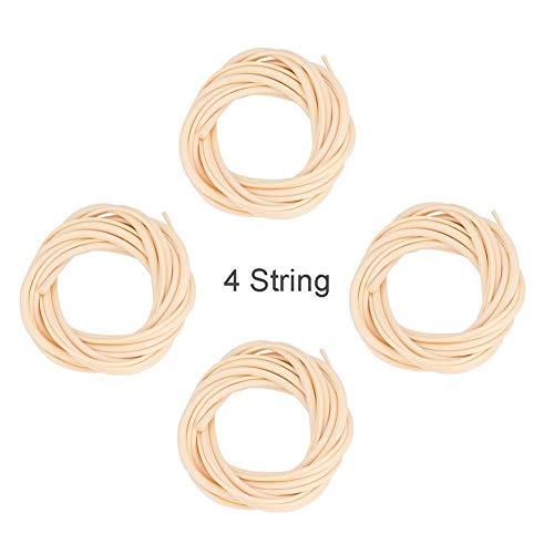 Best Review Of Rockyin 4 PCS U-Bass Ukulele Bass Strings Set 5mm 4mm 3mm 2.5mm