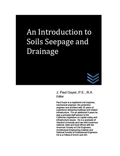 An Introduction to Soils Seepage and Drainage
