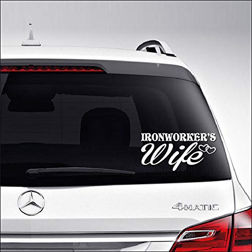 Aampco Decals Ironworker's Wife Roughneck Car Truck Motorcycle Windows Bumper Wall Decor Vinyl Decal Sticker Size- [12 inch/30 cm] Wide/Color- Gloss White