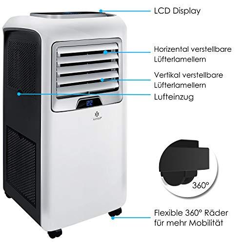 Mobiles Klimagerät mit Fernbedienung und Timer Bild 3*