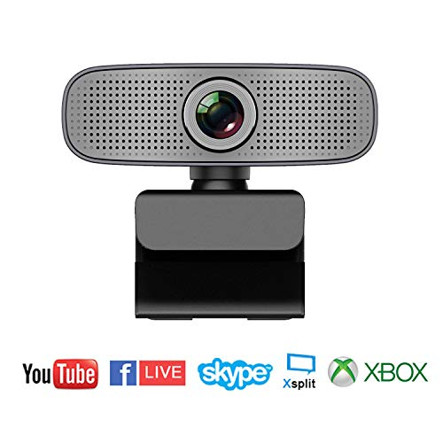 Spedal Full HD Webcam 1080p, USB Streaming Webcam, Computer Laptop Camera for OBS Xbox XSplit Skype Facebook, Compatible for Mac OS Windows 10/8/7