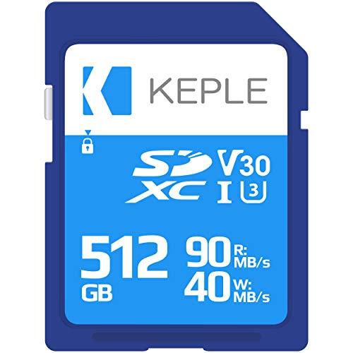 512GB Tarjeta SD Clase 10 Tarjeta de Memoria Alta Velocidad Compatible con Nikon COOLPIX W100, W300, B600, A100, A300, A900, A1000 Cámara Digital | 512 GB UHS-1 U3 SDXC