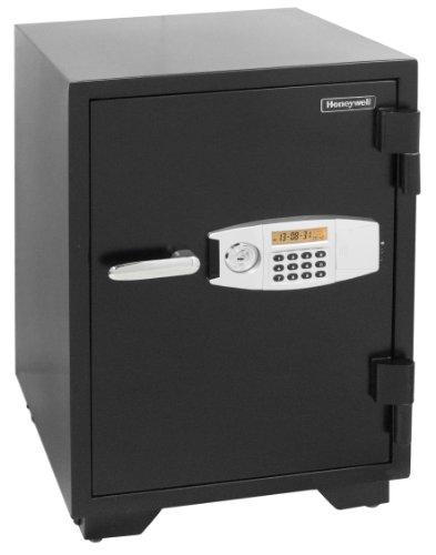 Honeywell Safes & Door Locks - 2116 Steel 2 Hour Fireproof and Water Resistant Security Safe with Dual Digital Lock and Key Protection, 2.35-Cubic Feet, Black