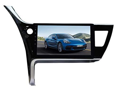 FDGBCF Estéreo de Coche Navegación GPS para Toyota Corolla 2014-2017 Audio estéreo Sat Nav Video con Llamada Bluetooth Pantalla táctil WiFi