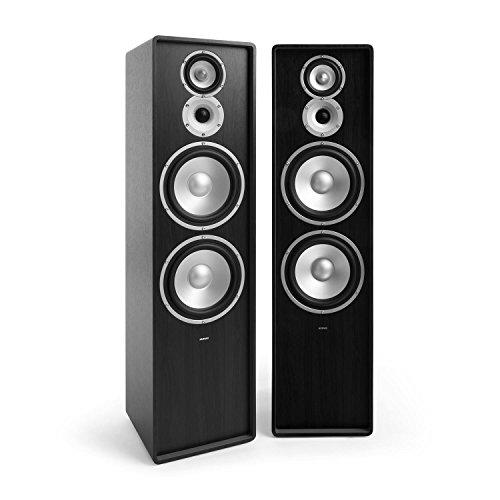 NUMAN Retrospective 1977 MKII - Standlautsprecher, 3-Wege Lautsprecher, Paar HiFi Speaker, 120 Watt, MDF-Gehäuse, resonanzarm, intergrierte Schallführung, 3-Wege-Frequenzweiche, schwarz