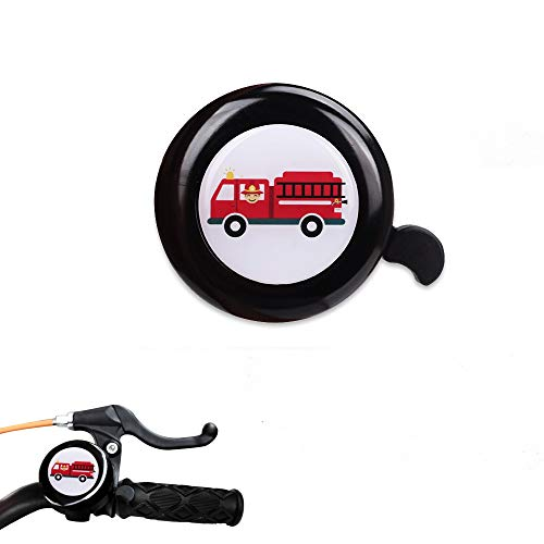 MINI-FACTORY Bike Bell for Boys, Bicycle Handlebar Cute Fire Truck Bike Safe Cycling Ring Horn for Kids (Fire Truck)