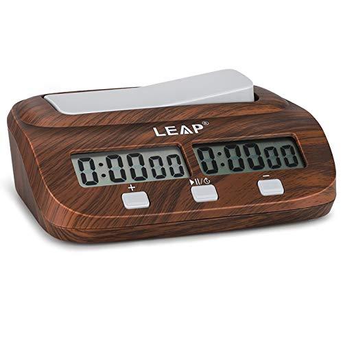 LEAP Reloj de Ajedrez Electrónico, Digital Multifuncional Pantalla Reloj de Ajedrez Profesional, Chess Ajedrez para Niños Temporizador Electrónica Junta Juego Ajedrez Competición