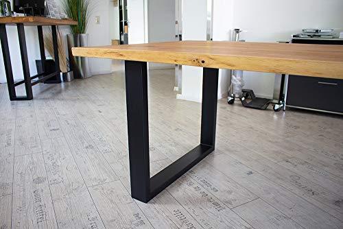 KTC Tec tafelframe staal TU 100x40 10x4 metaal mat zwart tafelonderstel tafelglijders onderstel tafelpoten tafelvoet industrieel ontwerp eettafel schrijftafel 900mm (1 Stück)