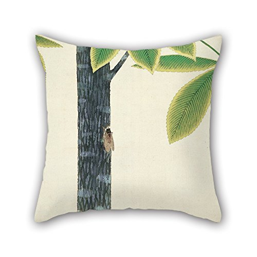 N / A Pintura al óleo Omoda Seiju - Cicada Throw Pillow Case Best For Wedding Valentine Birthday Teens Husband Shop (Cada Lado)