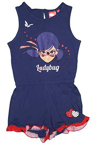 Miraculous Mono de algodón Ladybug para niñas Azul Azul 5 años