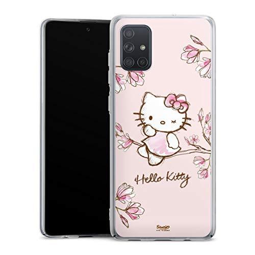 DeinDesign Hard Hülle kompatibel mit Samsung Galaxy A71 Schutzhülle transparent Smartphone Backcover Hello Kitty Fanartikel Hanami