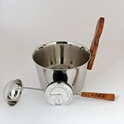 Metal bucket and ladle - click on photo for more information