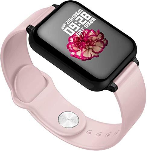 Reloj inteligente rosa para hombres y mujeres de 1 3 pulgadas con pantalla táctil IP67 resistente al agua con monitor de frecuencia cardíaca/sueño/salud cardíaca (compatible con múltiples idiomas)