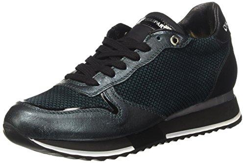 D'Acquasparta Damen Bianca Niedrige Sneaker, Blau (Cielo), 38 EU