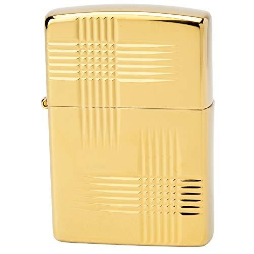 ZIPPO(ジッポー) ライター ゴールド 和柄 片面彫刻 チタンコーティング 高さ5.5cm×幅3.8cm×奥行き1.3cm