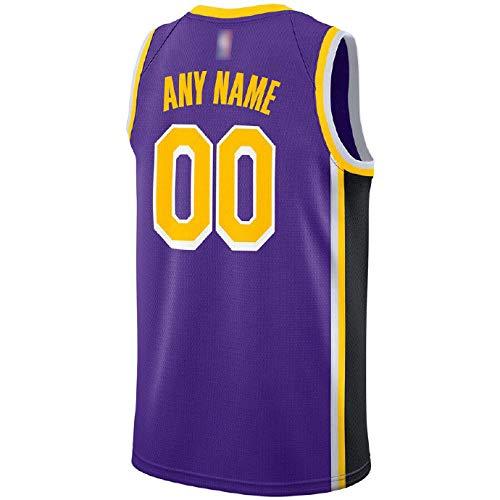 LILIONE Camiseta de Baloncesto para Hombre - Camiseta de Jersey Swingman Personalizada púrpura de Los Angeles Lakers para Hombre Ropa Deportiva Unisex - Edición de declaración(XXL)