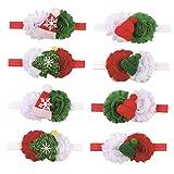 xuew Regalo Navidad arquea Las Vendas de Navidad 5PCS niña de Tacto Suave Hairband del Bowknot del Pelo del Tocado Floral Lindo para el niño Infante recién Nacido