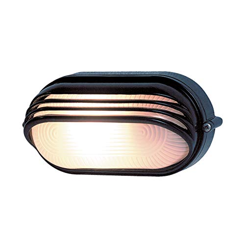 REV 0590057555 Ovalleuchte, Wandlampe Deckenlampe oval, bis 60 Watt, IP44, E27, schwarz