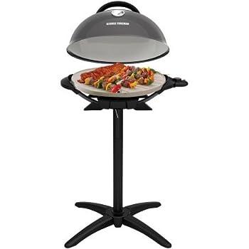 George Foreman PRO Indoor / Outdoor Grill  240 Sq In Ceramic Plates Temp Gauge,